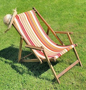 Deckchairs and a brazier are a must